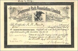 Edgewood Park Association Limited 1886 - Alexandria Bay, New York
