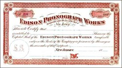 Edison Phonograph Works (Pre iPod by 116 years) - New Jersey 1888