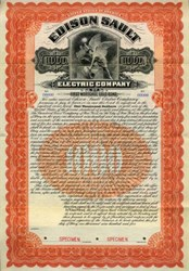 Edison Sault Electric Company - Gold Bond 1905