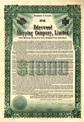 Edgewood Shipping Company, Limited - Canada 1918