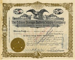 Thomas Edison Storage Battery Supply Company - New Jersey 1940