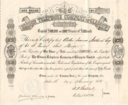 Edison  Telephone Company of Glasgow Limited - Scotland 1880