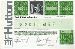 "E. F. Hutton Group Inc.  (""When E. F. Hutton talks, people listen"") - 1987"