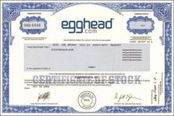 Egghead.com - Famous Dot Com gets scrambled in Bankruptcy