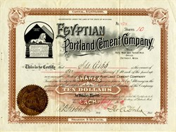 Egyptian Portland Cement Company - Fenton and Holly, Michigan 1903