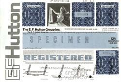 """E.F. Hutton Group Inc. 12% Debenture (""""When E. F. Hutton talks, people listen"""")  - 1980"""