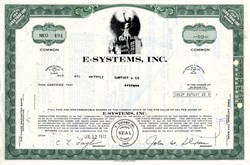 E-Systems, Inc. (Now Raytheon) - Delaware 1972