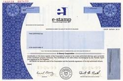 e-stamp the Internet Postage Company - Delaware 1999
