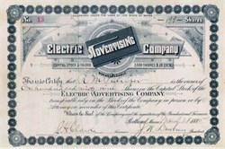 Electric Advertising Company 1885