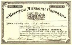 Electric Amalgam Company 1884