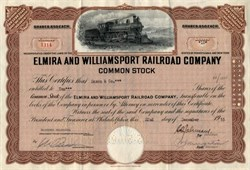 Elmira and Williamsport Railroad Company - 1963