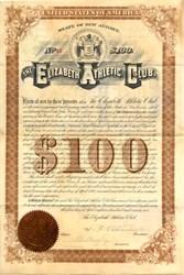 Elizabeth Athletic Club - New Jersey 1892
