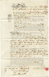 Collateral Security between Elizabeth Bateman and Charles R. Tunnard Esquire for Seven Thousand Pounds dated 1821 - England