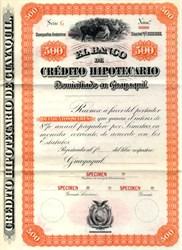 El Banco de Crédito Hipotecario - Quayaquil, Ecuador