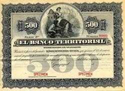 El Banco Territorial - Guayaquil, Ecuador 1886