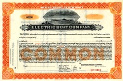 Electric Boat Company ( Early General Dynamics ) - Submarine Vignette 1915
