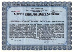 Electric Bond and Share Company (General Electric Holding Company) 1939 (EBASCO )