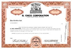 El Chico Corporation - Texas 1968