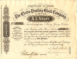 Electro-Printing-Block Company, Limited - England 1859