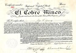 El Cobre Mines - Cuba 1903