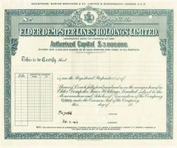 Elder Dempster Lines Holdings Limited - England