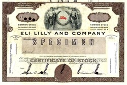 Eli Lilly and Company Production Proof - Indiana 1985