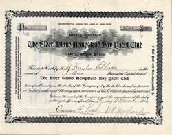 Elder Island Hempstead Bay Yacht Club - New York 1911