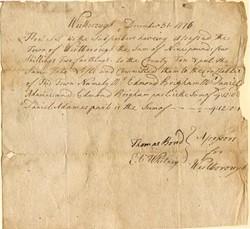 Eli Whitney hand signed Certificate - Westborough, Massachusetts 1776