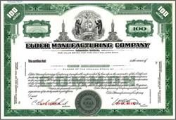 Elder Manufacturing Company - Missouri ( Apparel Maker )