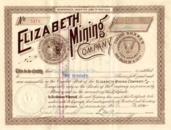Elizabeth Mining Company ( Silver Dollar vignette) - Montana 1892