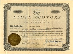 Elgin Motors - Indiana 1923