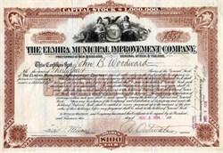 Elmira Municipal Improvement Company - New Jersey 1894