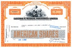 Electric & Musical Industries Limited ( EMI Records) - New York 1967