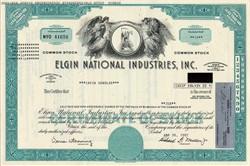 Elgin National Industries, Inc. ( Elgin Watch Company) - Delaware 1987