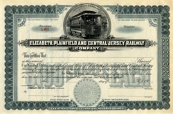 Elizabeth, Plainfield and Central Jersey Railway Company - New Jersey 1900