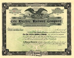 Electric Railway Company - Port Huron, Michigan