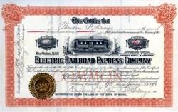 Electric Railroad Express Company 1896 RARE