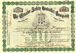 Elevator Safety Controller Company ( Old Elevator Vignette) - Pennyslvania 1898