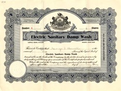 Electric Sanitary Damp Wash - Pennsylvania 1926