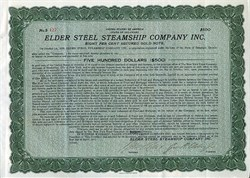 Elder Steel Steamship Company Inc. (Signed by  George R. Elder Jr )  - Delaware 1921
