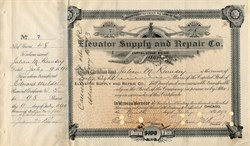 Elevator Supply and Repair Co. (Early Elevator Company) - Illinois 1890