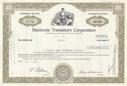 Electronic Transistors Corporation 1973