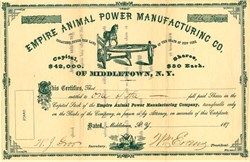 Empire Animal Power Manufacturing Co. - New York 1870's