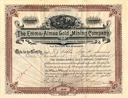 Emma-Aimee Gold Mining Company - Cripple Creek, Colorado 1899