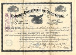 Empire Institute of New York - Jersey City, New Jersey 1893