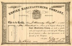 Empire Manufacturing Company - New York 1867