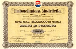 Pepsi Cola Bottling Company - Madrid, Spain 1965