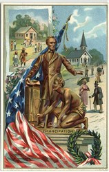 Emancipation Statue of President Lincoln - Patriotic Post Card