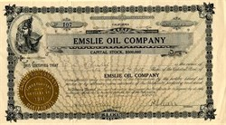 Emslie Oil Company - California 1912