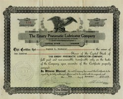 Emery Pneumatic Lubricator Company - Colorado 1914